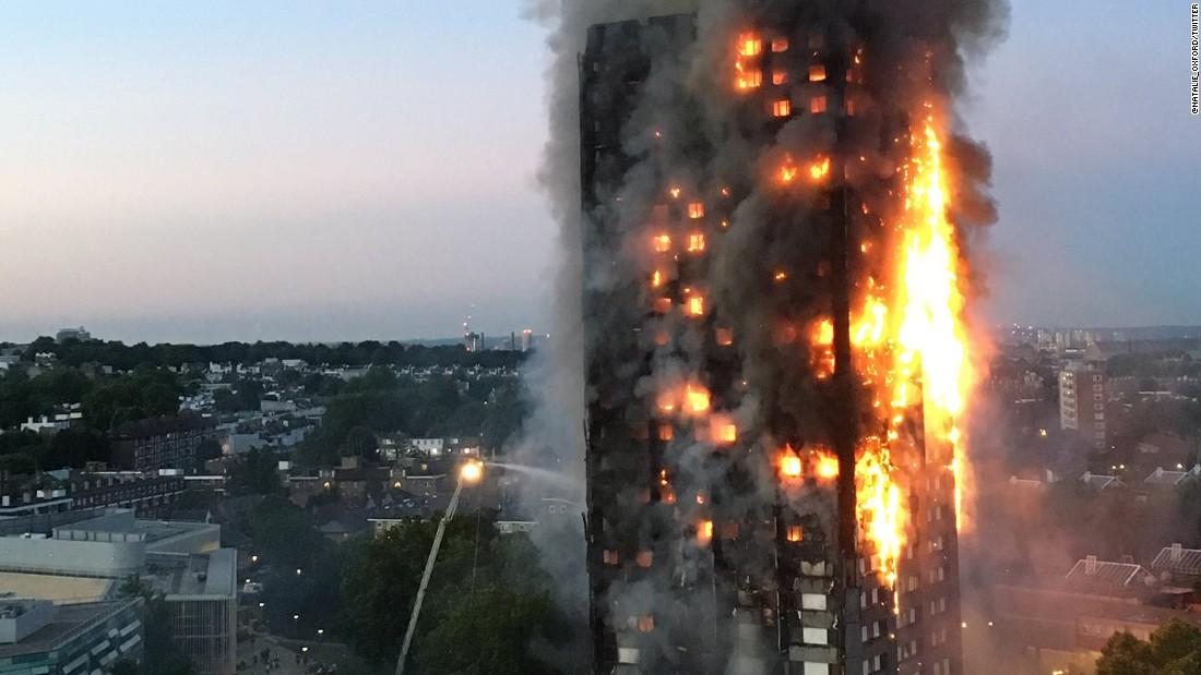 Six morts dans l'incendie de la tour de Londres
